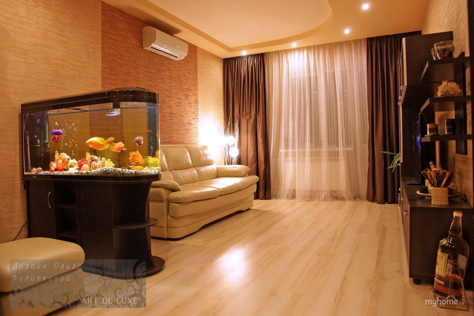 Фото дизайн зала в двухкомнатной квартире