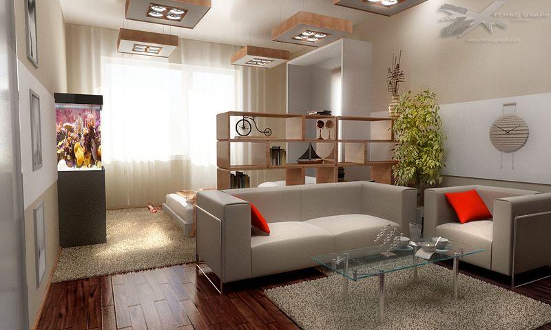 Дизайн для 1-комнатной квартиры