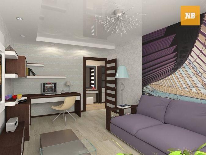 Фото дизайн 1 комнатной