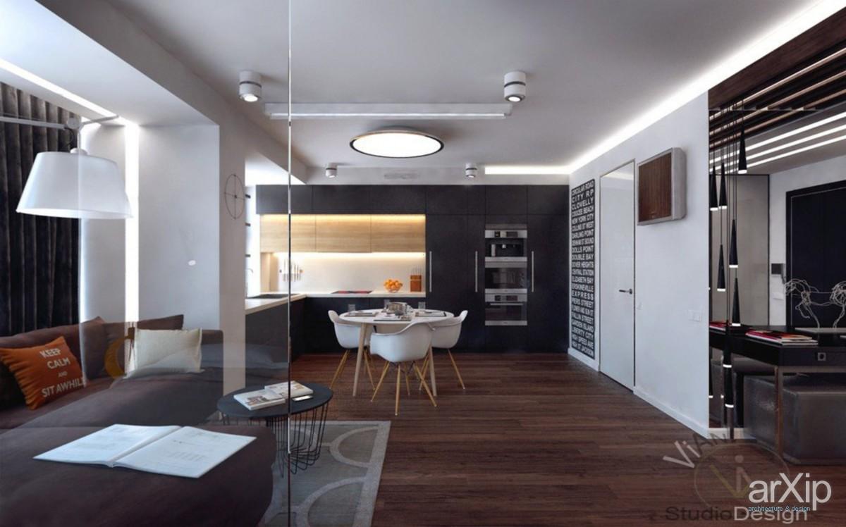 Квартиры-студии дизайн 50 кв.м