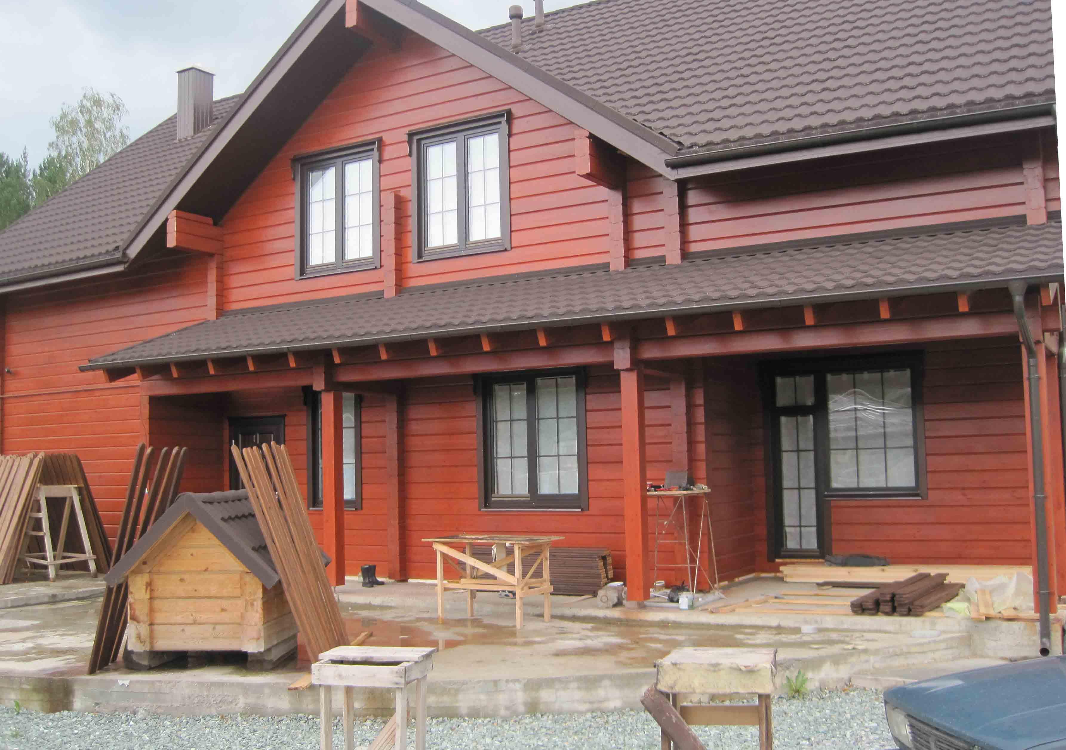Покраска деревянных домов снаружи