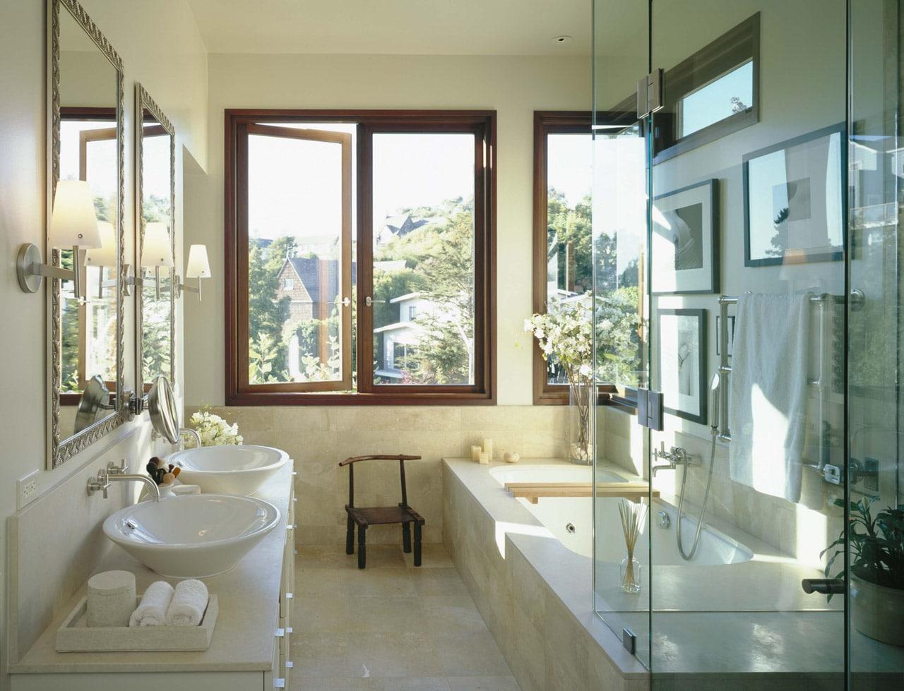 Ванная комната с окном дизайн 6 кв метров
