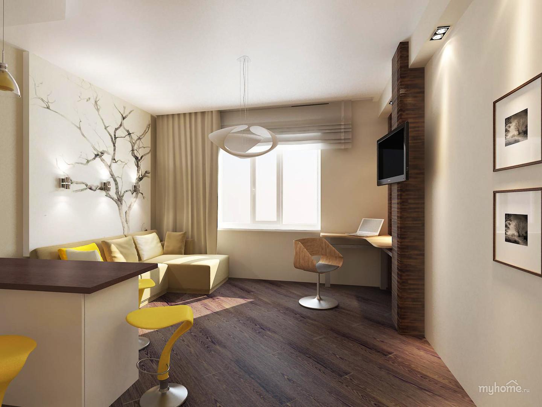 Фото однокомнатная квартира дизайн для молодой семьи с ребенком