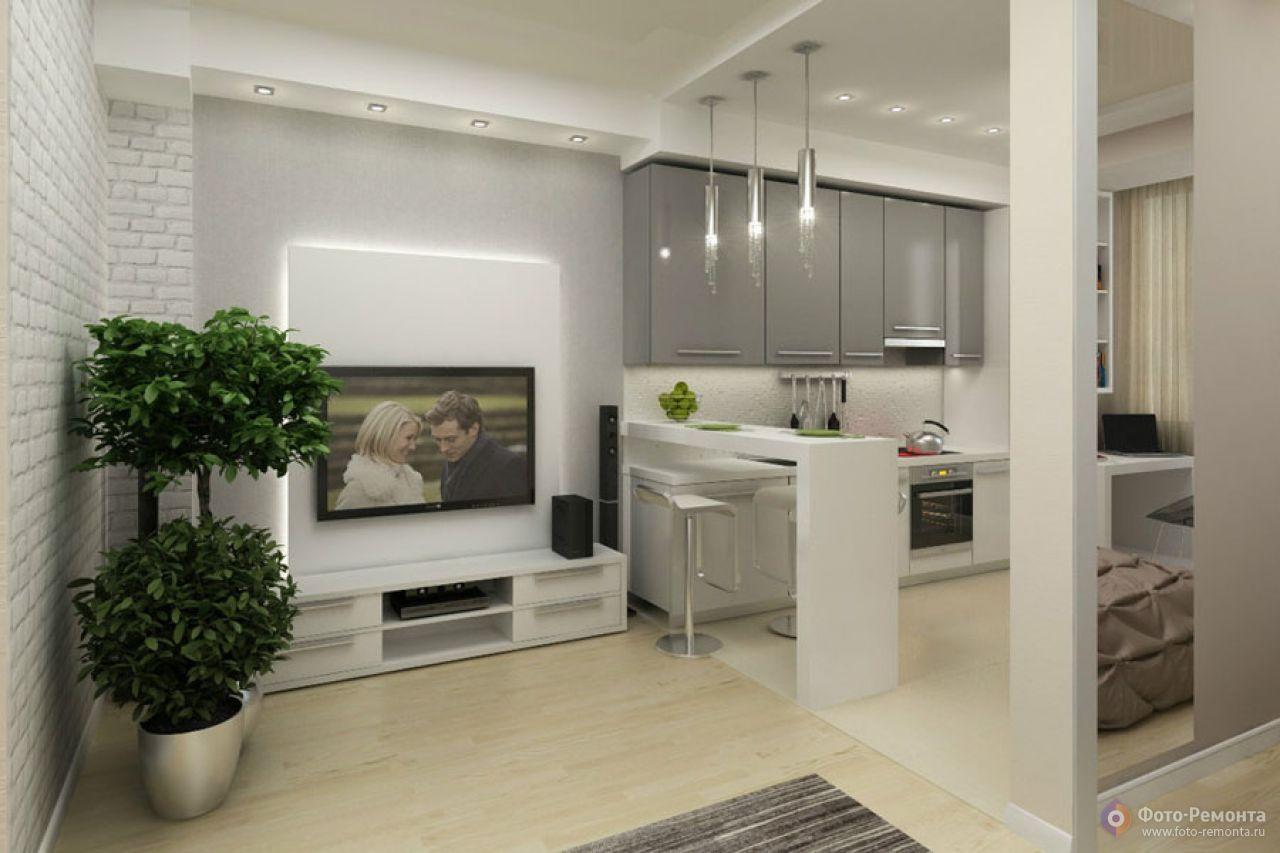Интерьер однокомнатной квартиры 42 кв.м фото совместно с детской
