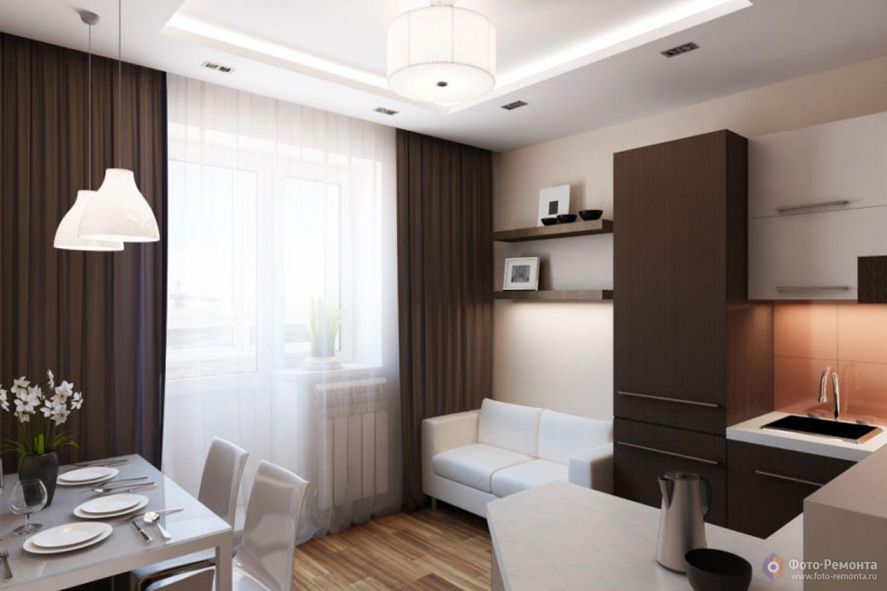 Дизайн квартиры-студии 30 кв.м для семьи