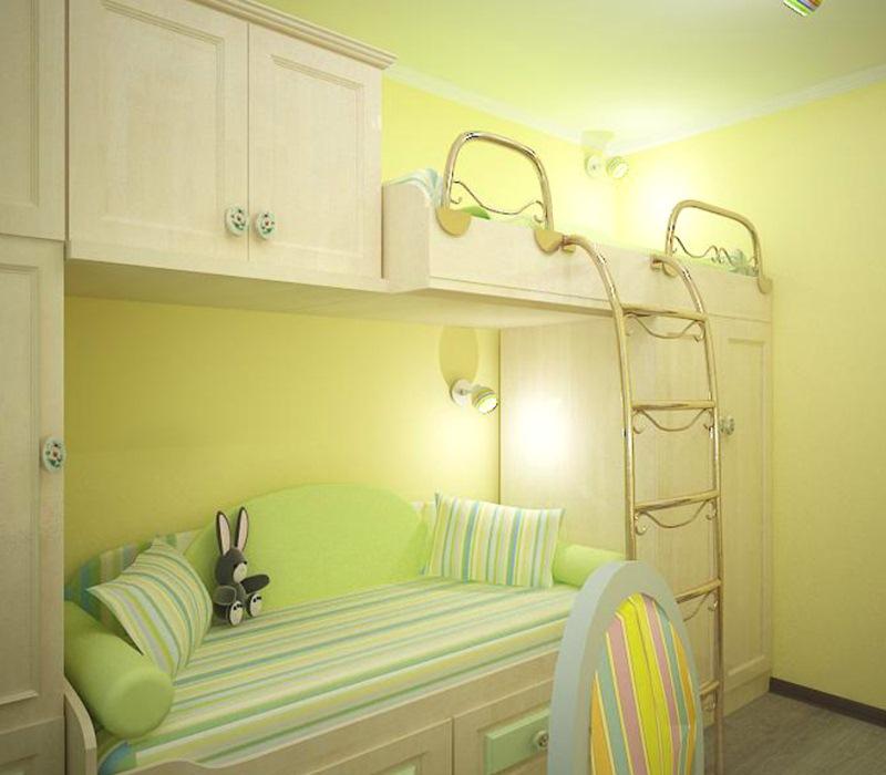 2 ребенка в однокомнатной квартире дизайн