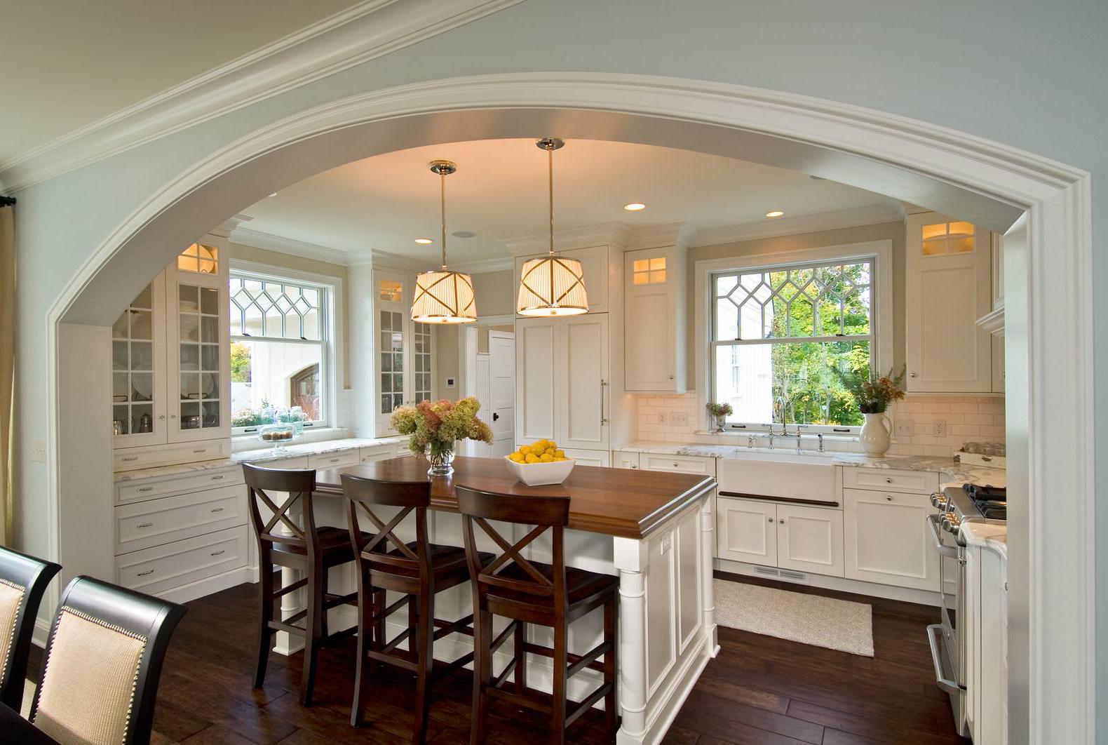 Кухня с аркой дизайн