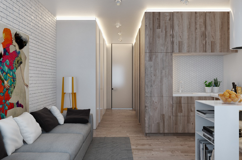 Квартира 18 квадратов дизайн