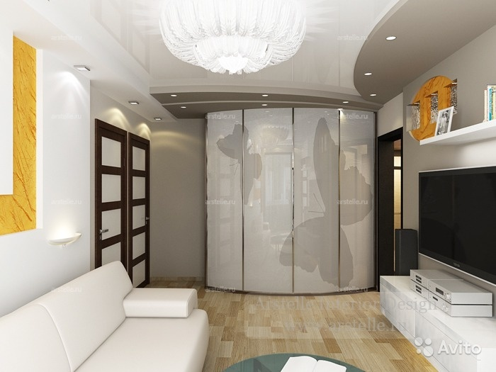 Дизайн в 3 х комнатной квартире п44т