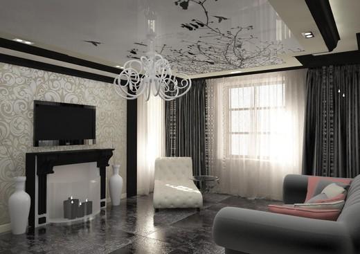Частный дом дизайн в зале