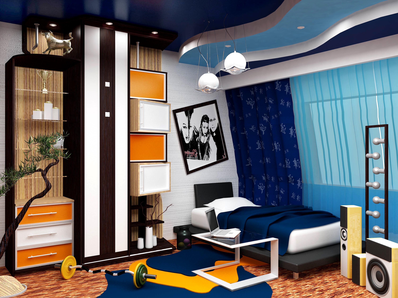 Детская дизайн комнаты подросток