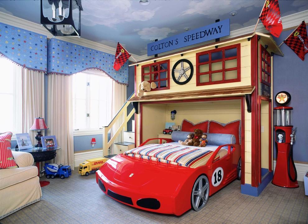 Дизайн детской комнаты для мальчика с большим