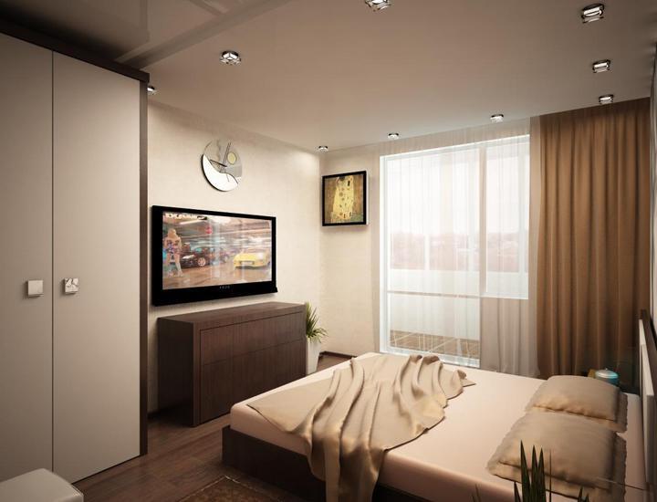 """Дизайн спальни площадью 15 кв.м """" современный дизайн."""