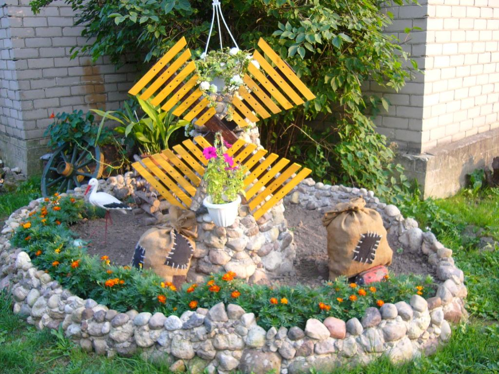 Как украсить свой садовый участок своими руками фото