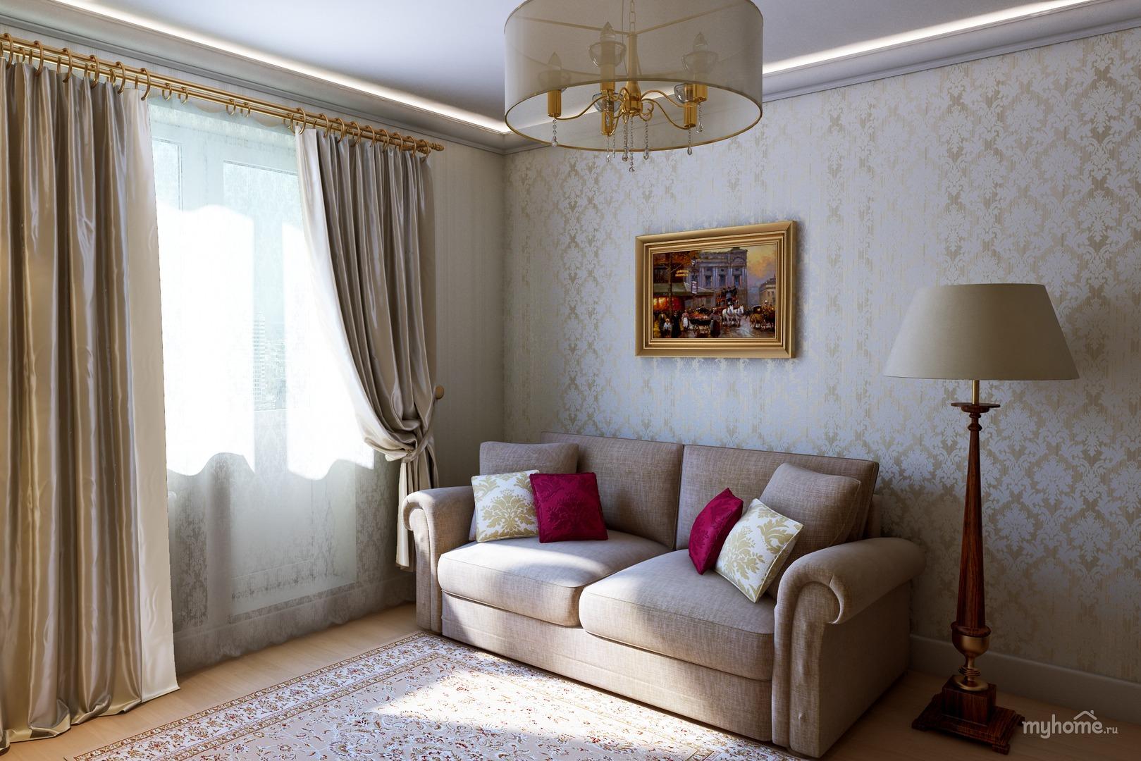 Маленькие гостиные фото совмещенные с кухней фото