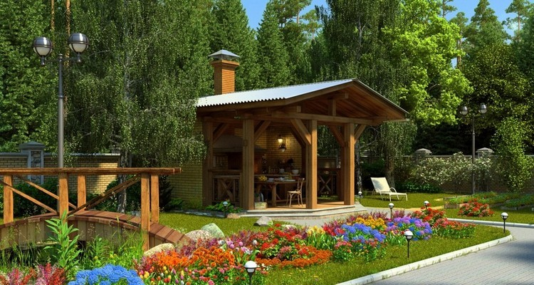 Фото участки с домами и дизайном