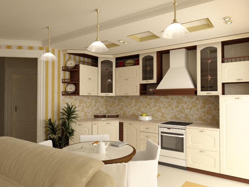 Дизайн кухни 20 кв. м