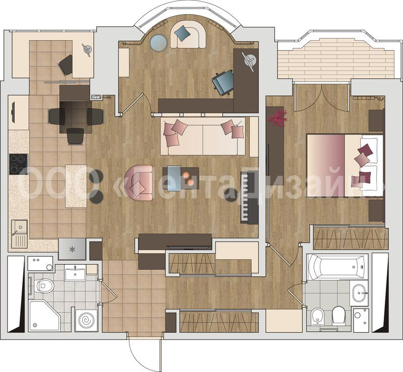 планировка 2-х квартир фото