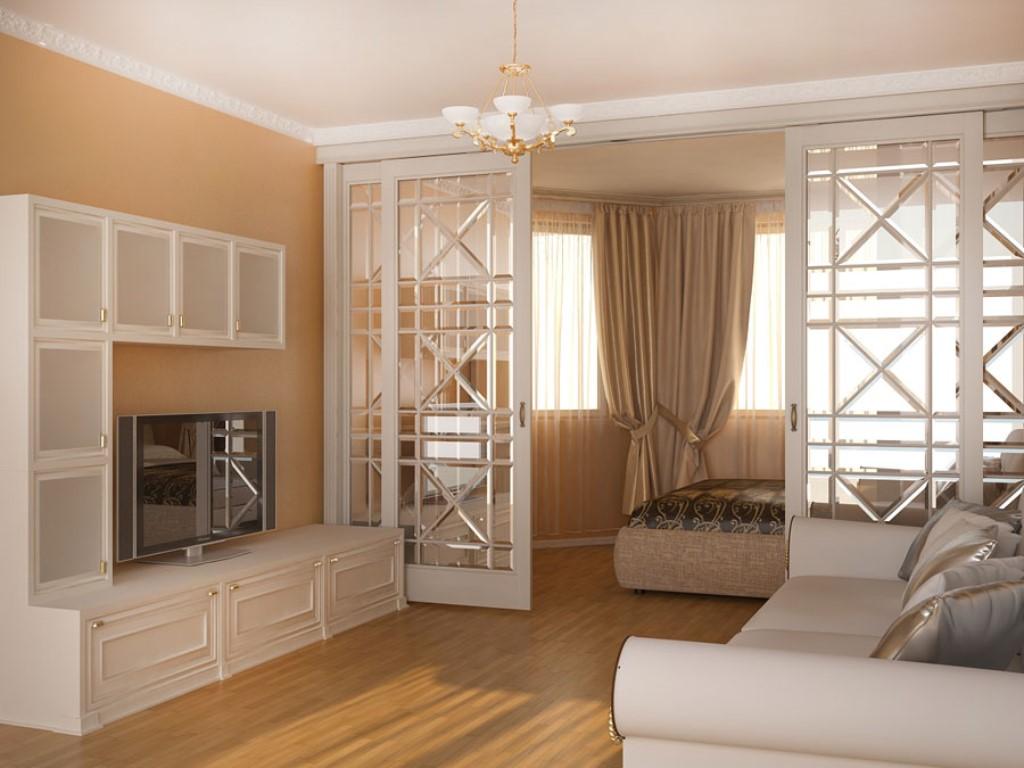 Интерьер гостиной-спальни в двухкомнатной квартире идеи для .