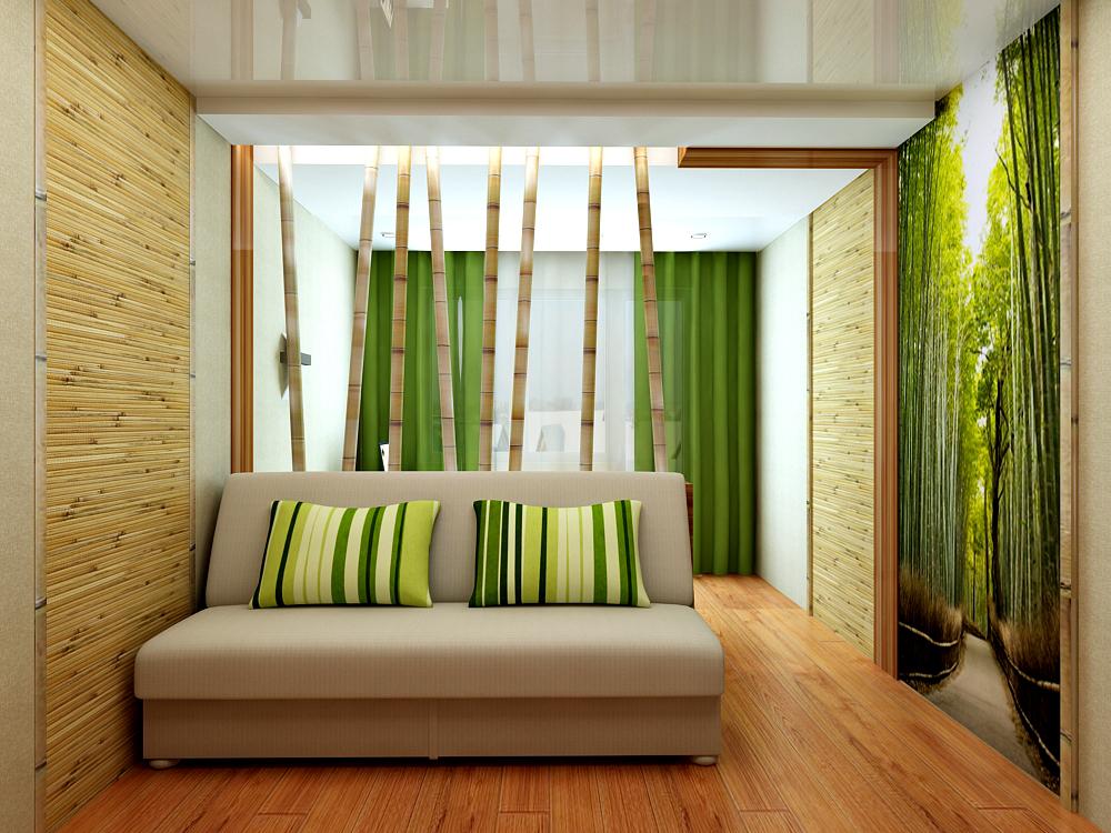 Дизайн кухни с бамбуком