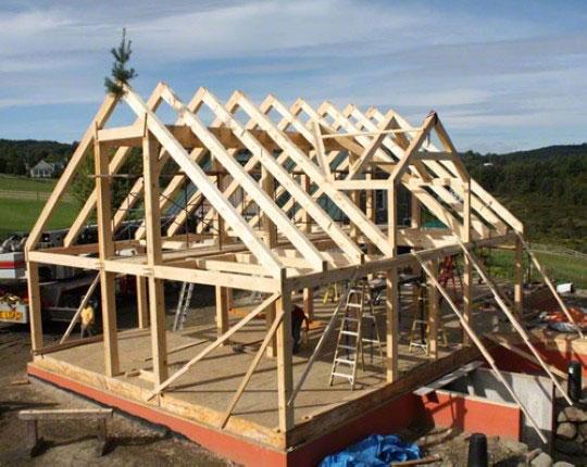 Крыши строительство своими руками фото