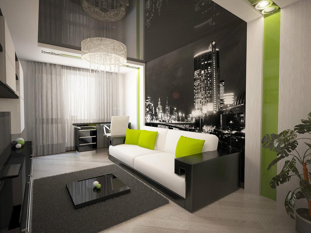 Ремонт однокомнатной квартиры фото стильно