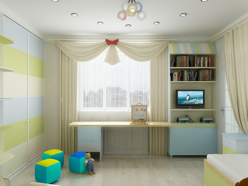 """Дизайн детской комнаты для мальчика с балконом """" современный."""
