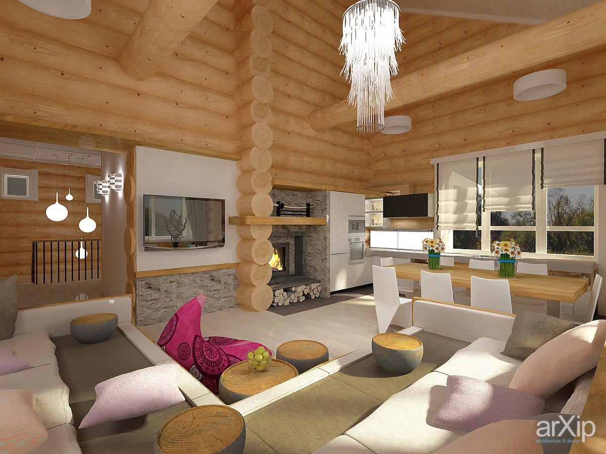 Дизайны домов из бревна проекты