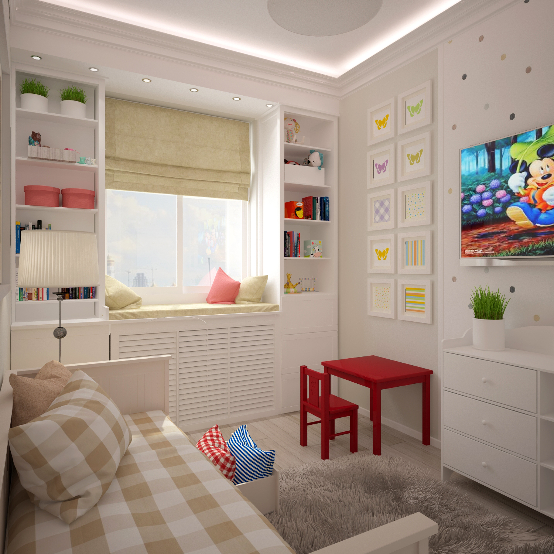Дизайн детской для мальчика 12 кв.м
