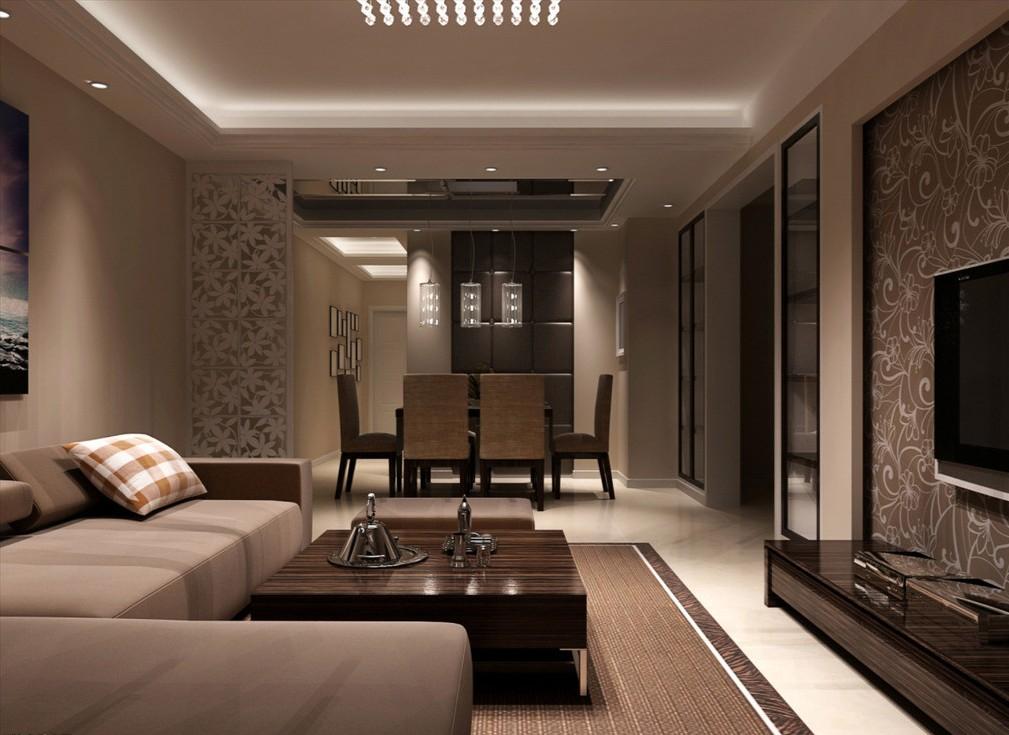 Дизайн гостиных в коричневом и бежевом цвете