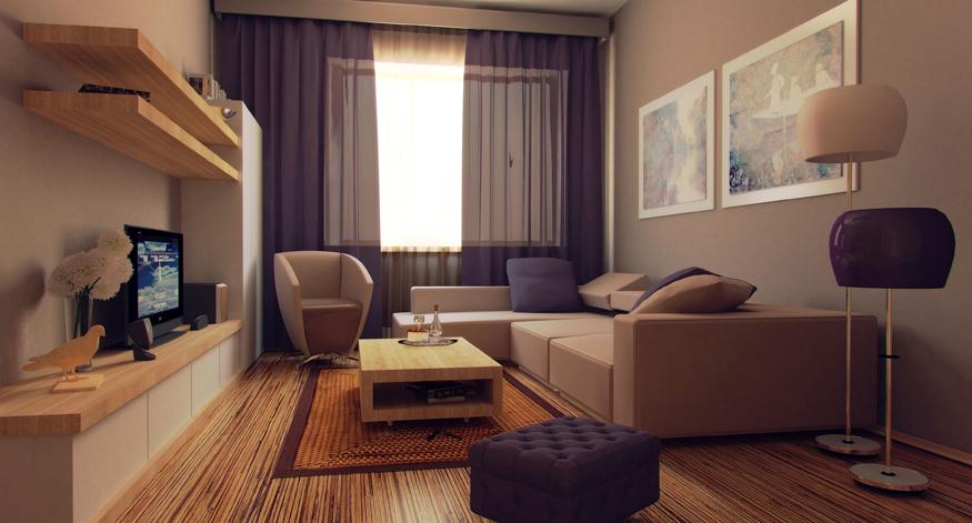 Интерьер гостиной дешево фото