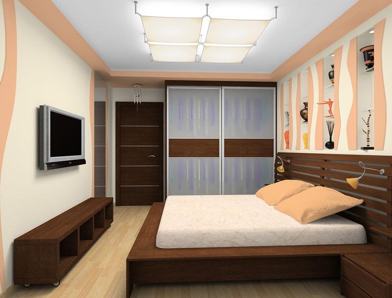 Ремонт спальни комнаты малых размеров