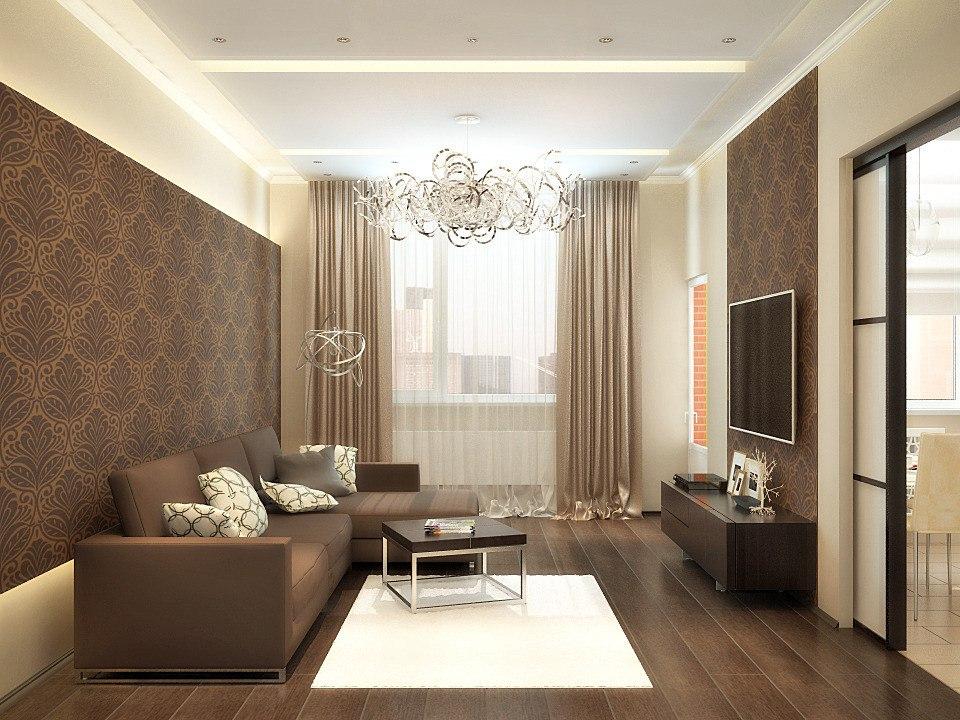 Интерьер зала 16 кв.м фото в квартире бюджетный вариант