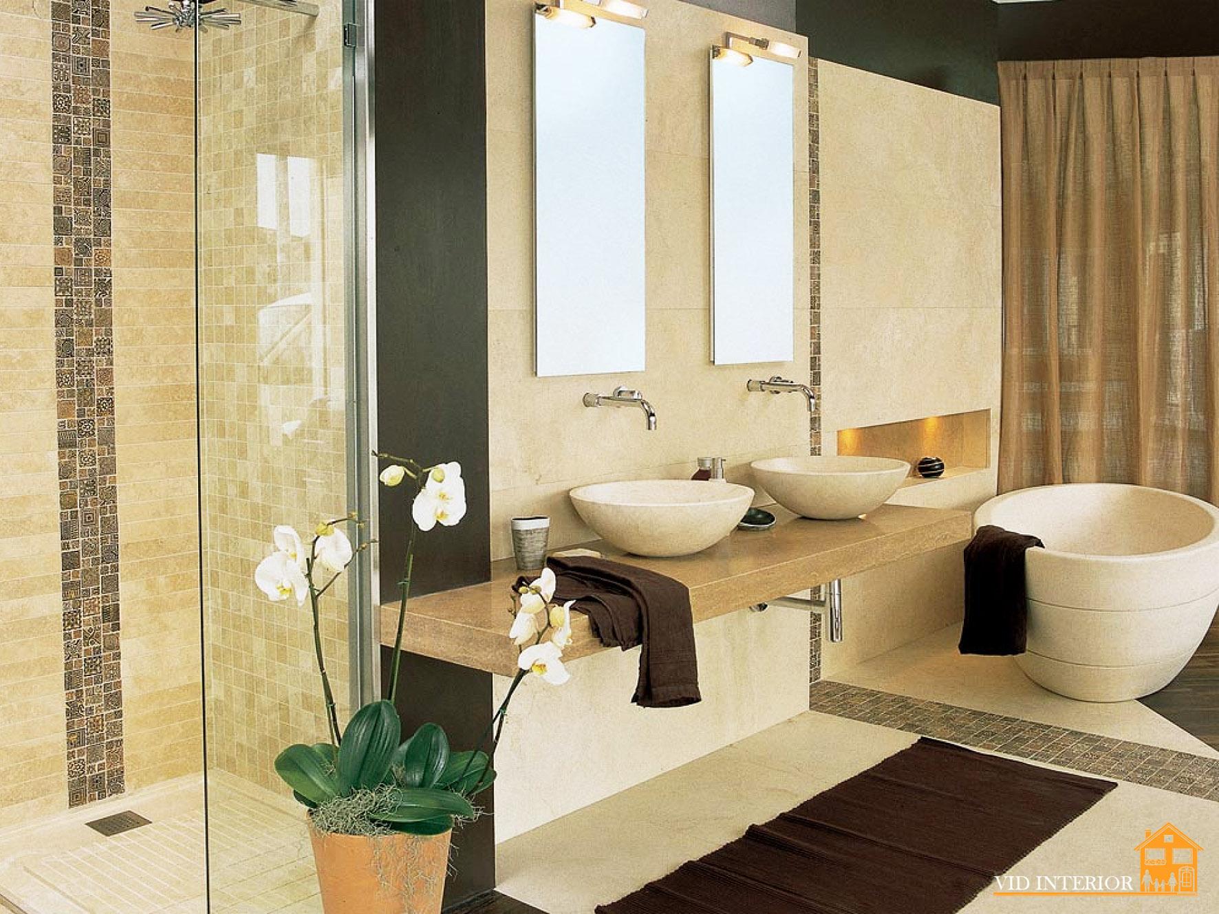 Плитка в ванной в квартире дизайн