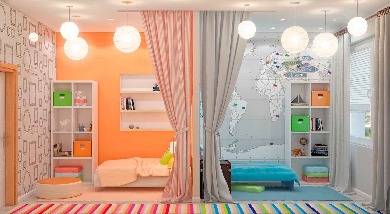 Комната для двоих детей дизайн
