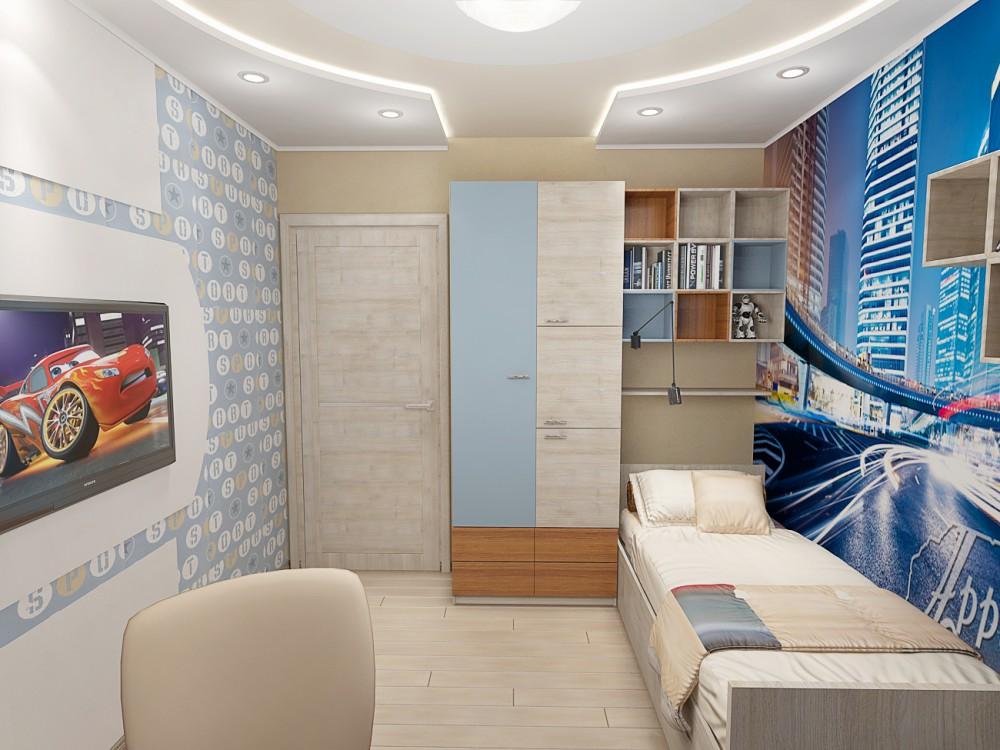 Дизайн детской комнаты для мальчиков 9 м.кв