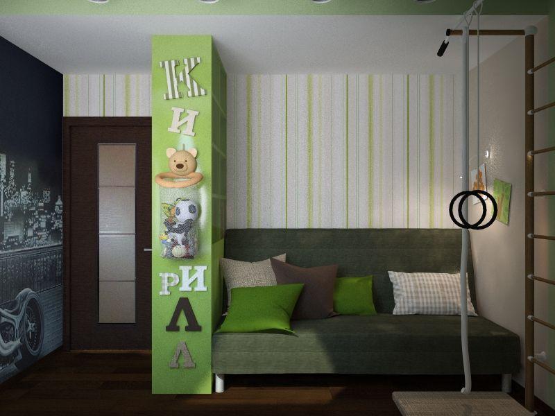 Дизайн спальни 8 кв. м для мальчика