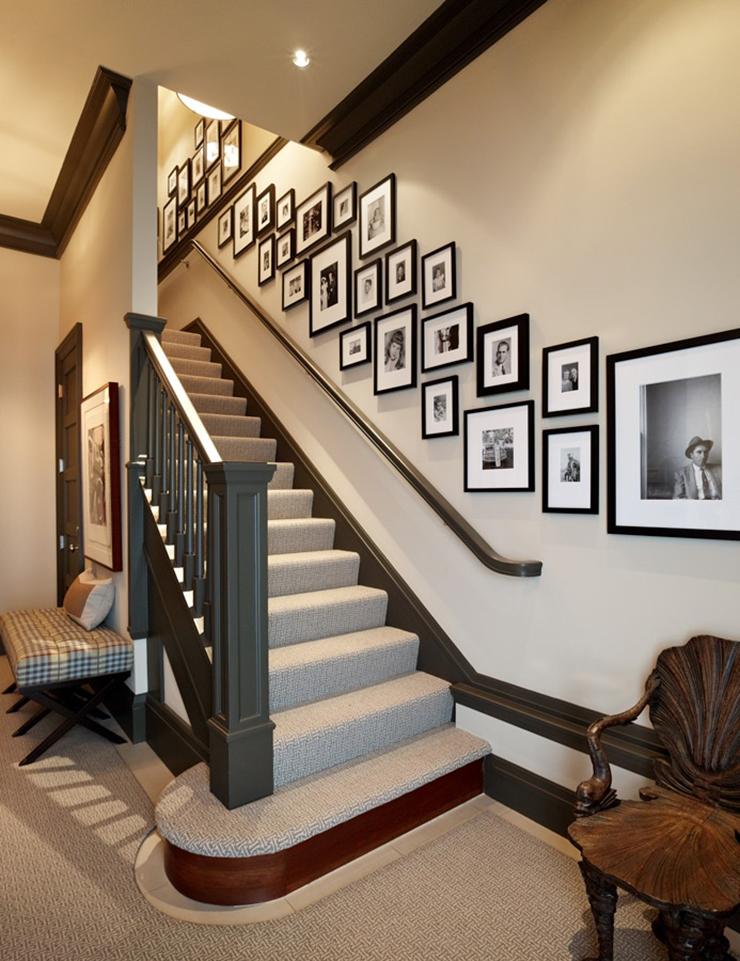 Дизайн стен лестницы в частном доме