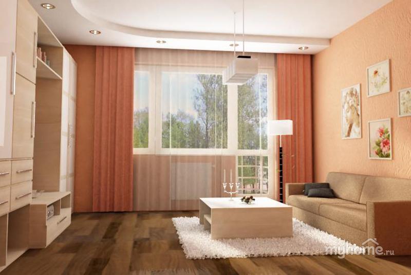 Интерьер персиковой комнаты фото
