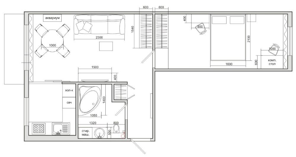 Дизайн планировка в хрущевке