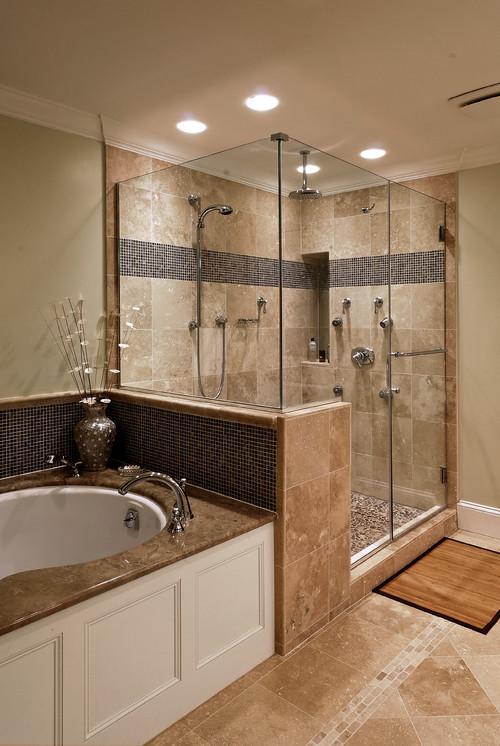 Фото дизайна ванных с душевой