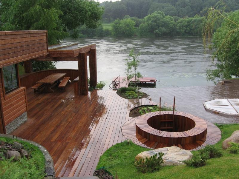 Фото дизайн вокруг бани