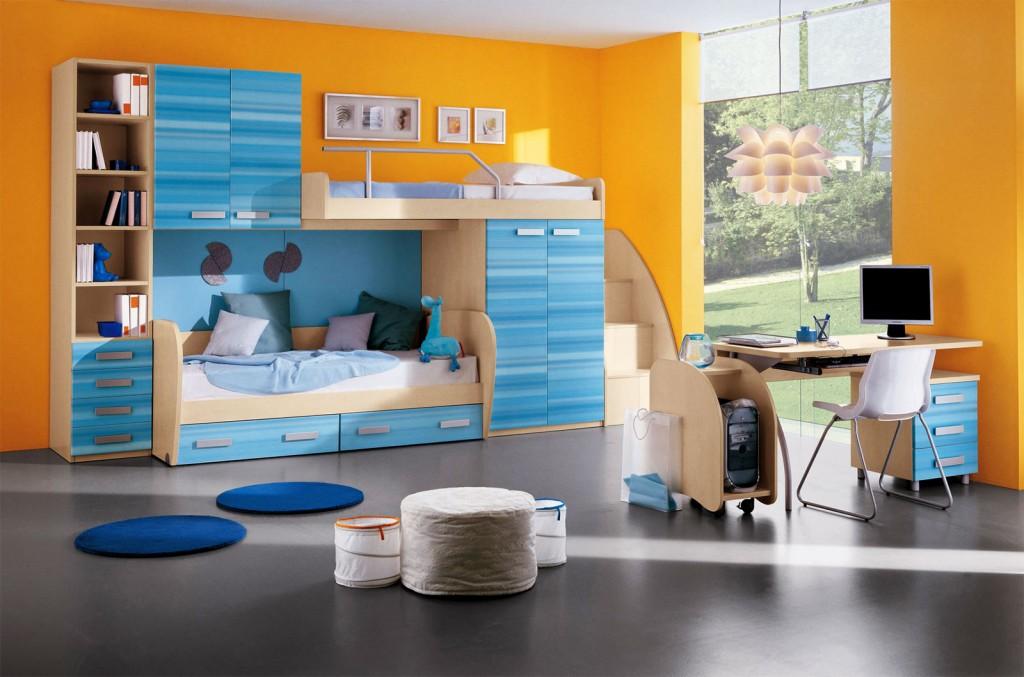 Дизайн детской комнаты для мальчика школьника