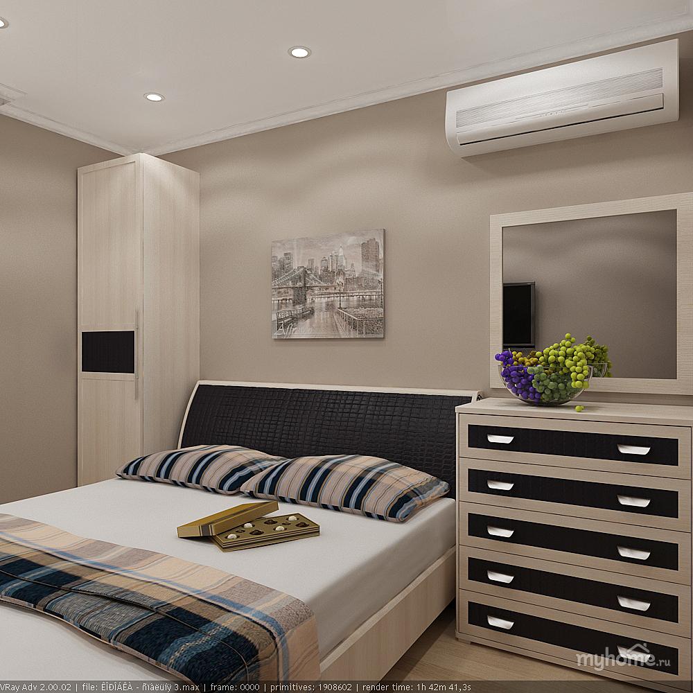 Спальня узкая 12 кв.м реальный дизайн