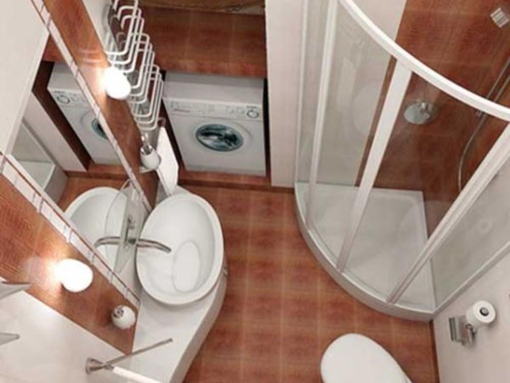 Как сделать туалет и душевую на небольшой площади