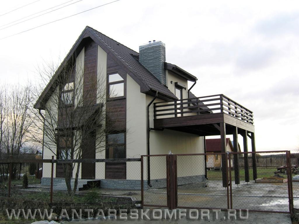 К-100 дом с навесом-балконом над автостоянкой archigut.ru.