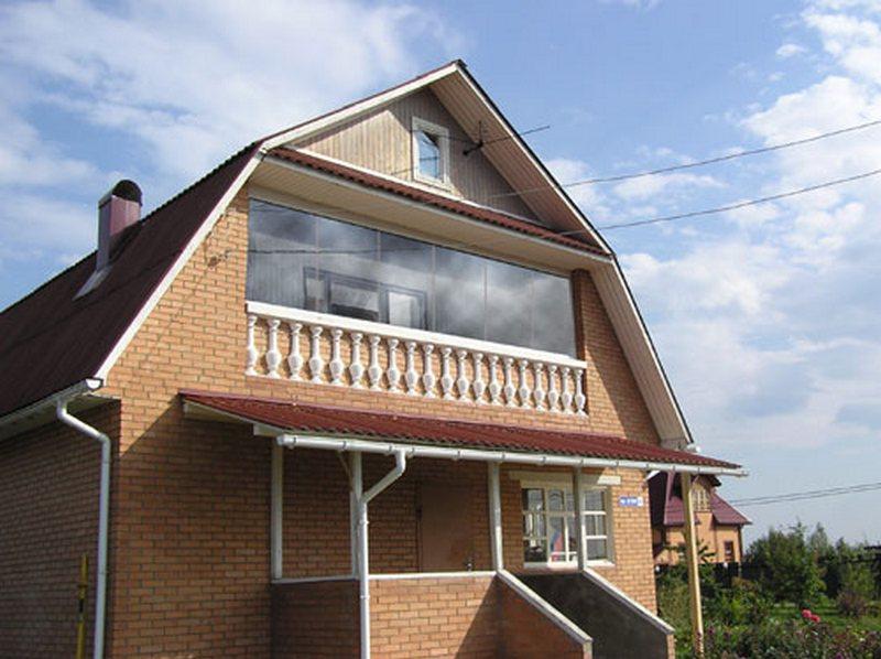 """Фото частных домов с балконом """" современный дизайн."""
