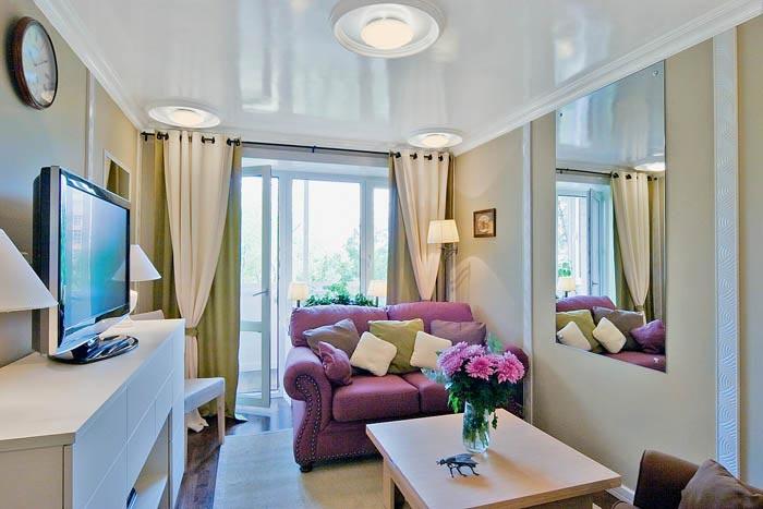 Дизайн однокомнатной хрущевке квартиры