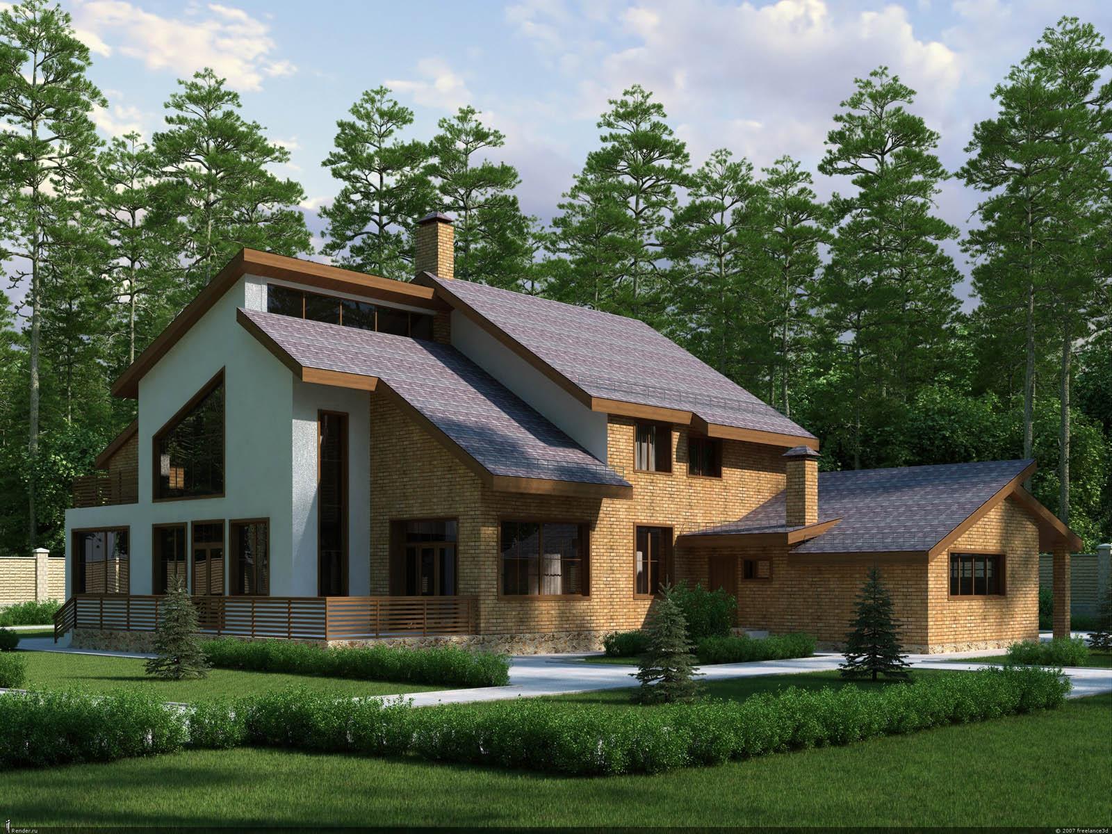 Дизайн загородного дома проекты