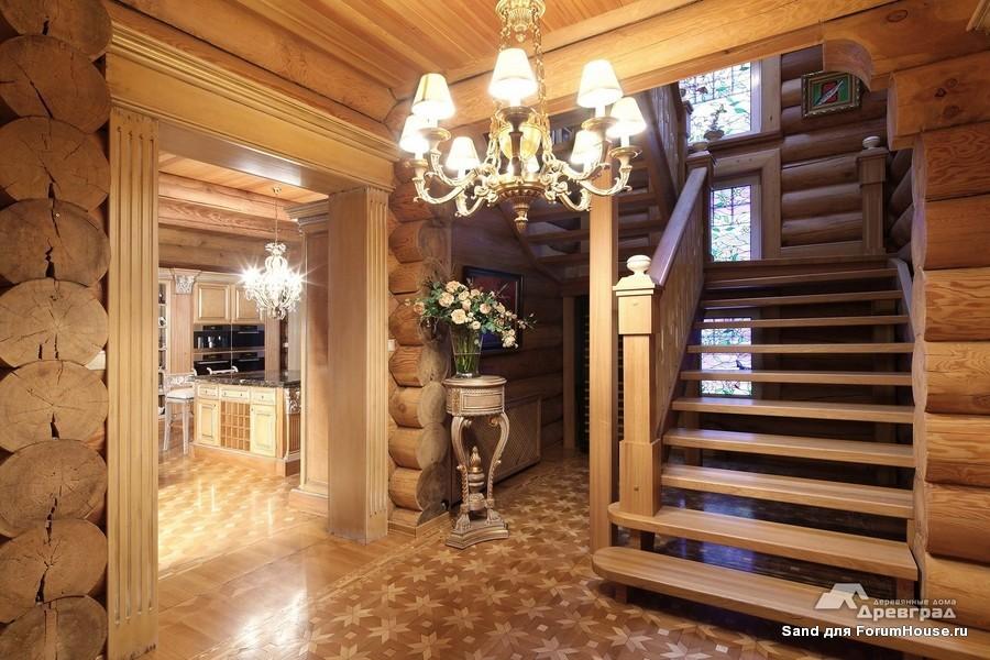 Дизайн внутри бревенчатые дома